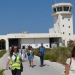 rush hour at Milos airport