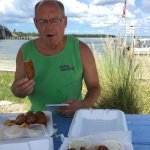 Great outdoor casual atmosphere together with terrific fish & chips!