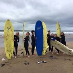 Girls surfing!