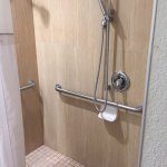 Handicap accessible shower. Lots of room!