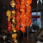 Fleisch und Gemüse aus dem Tandoor
