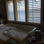 Private bath area for mineral bath