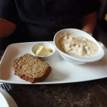 Spillane's seafood chowder with fresh bread, Plaza Bar & Grill, Killarney, Ireland