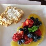 Shortcake, lemon curd, seasonal fruit