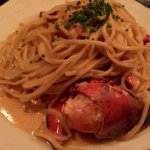 Spaghetti and lobster!  Quite delicious
