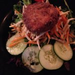 Garden Salad with Crab Cake