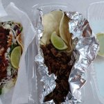 Left: Fish Taco; Right: Traditional Taco with Steak