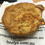 Bacon cheese and beef pie