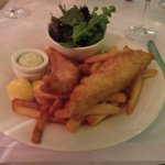 Mackerel and chips, very nice.
