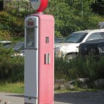 The original gas pump from the cabins - outside the office