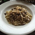 Fettuccine Tartufate - Home Made Fettuccine w/ Porcini, Shiitake & Oyster Mushrooms in a Black T