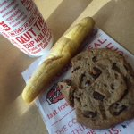 Fazoli's Breadstick, Cookie, and Drink