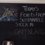 Sustainably sourced fish although not always from UK waters
