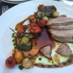 Restaurant agneau légumes de saison
