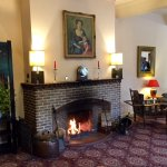 The main lounge fireplace