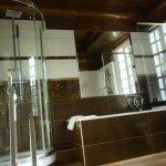 Copper ceiling in bathroom