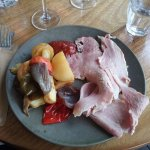 Ham Roast with vegetables.