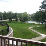 Balcony view of Stillwater River from room 239.