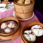 Steamed char su buns and other Dim Sum.
