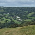 View of Branscombe from cliff top walk from Beer