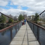 Swinging Bridge looking towards Brunswick.