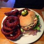 Portabella Burger with rings