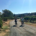 Enjoying a day riding in wine country