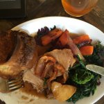 dry meat, cold veg and how do you get those brown marks on carrots .. i don't know