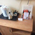 The set up ( I had the milk with my tea my bad! )