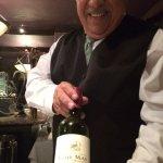 Delightful wine and lovely waiter