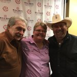 Me with country music legends Mickey Gilley (left) & Johnny Lee at the Wildrose Casino in Emmets