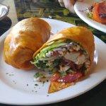 Medditeranian Wrap, Greek Salad for 1