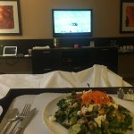 Room service Goat Herder salad, $20 including tip and service charge