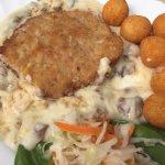 Schnitzel mit Rahmchampignons...sehr lieblos zubereitet