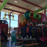 BIG PLAYPLACE close to the interstate was a life saver for traveling toddler-parents.