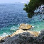 Crystal clear sea, few mins from Villa Fontana