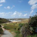 Vue de la plage du Donnant, une des plus belles de Frances