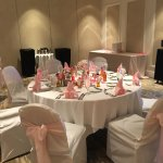 wedding decor in ballroom