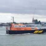 Pilot boat heading for home