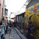 """In the """"Callejón del Embudo"""", one of the most emblematic and reknown places of Bogotá."""