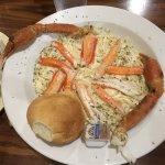 Fettuccine Alfredo with crab