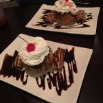 Fried ice cream and fried banana