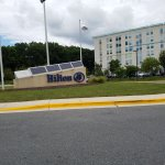 Entrance sign to Hilton