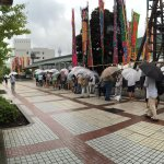 The line to get tickets for the first day of 2016 tournament in Tokyo!