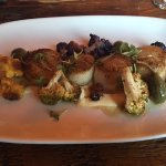 Scallops with cauliflower and capers
