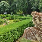 The picturesque and enchanting beauty of castle Villa D'Ayala's garden