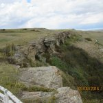 The actual buffalo jump cliff edge
