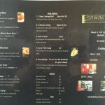 Sawak's menu for both dine-in or take-away!
