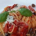 Spaghetti aux tomates spaccatella Masseria Dauna...tres bon et parfumé!