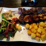 Sirloin and vegetable skewers